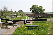 SU2562 : Lock No 58 and Freewarren Bridge from the west, Kennet and Avon Canal by Dr Neil Clifton