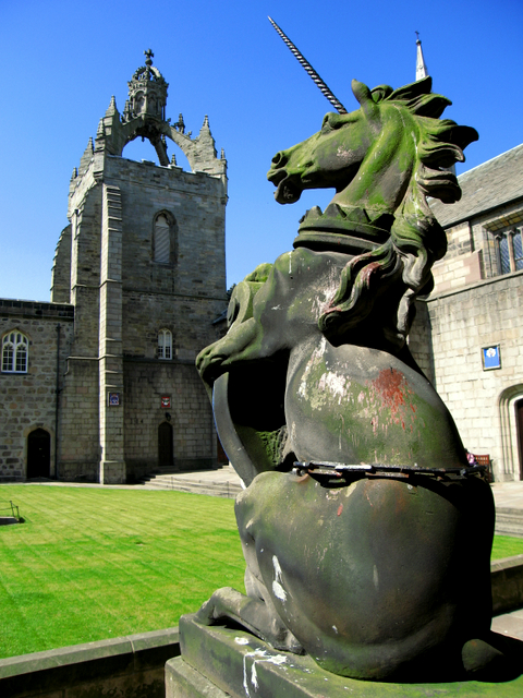 The quadrangle of King's College, Old Aberdeen