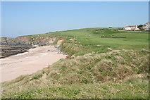SX6642 : Thurlestone: beach, coast path and golf course by Martin Bodman