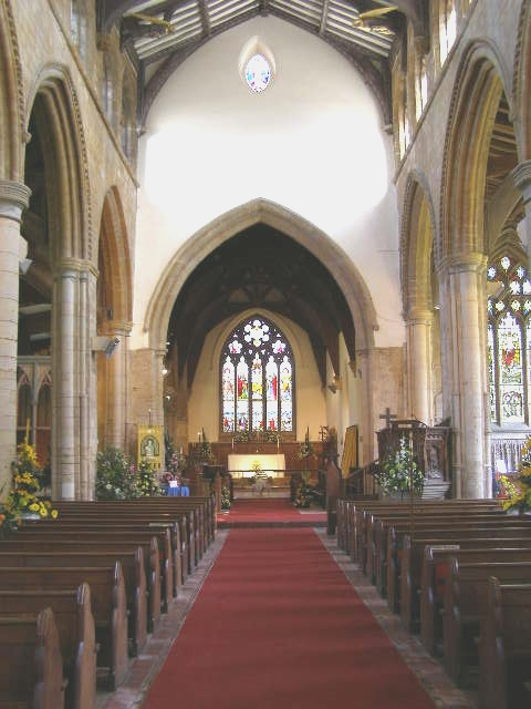 Inside St Mary's Church, Pinchbeck