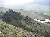 SK1491 : The Tower, Alport Castles by Stephen Horncastle