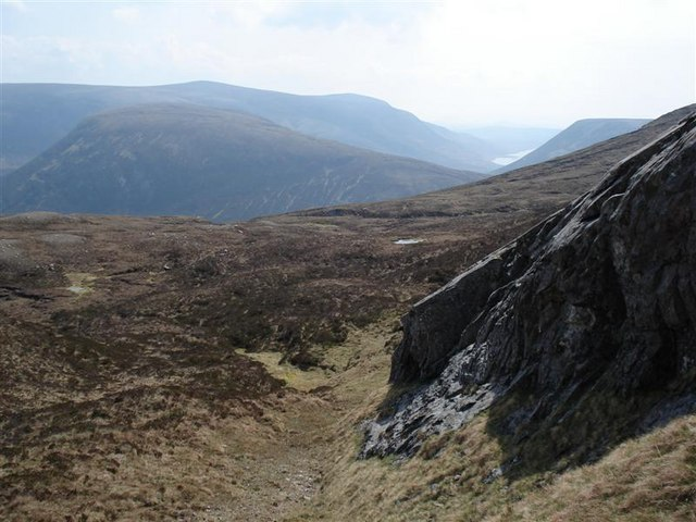 Crag on the southern flank of Carn Ban