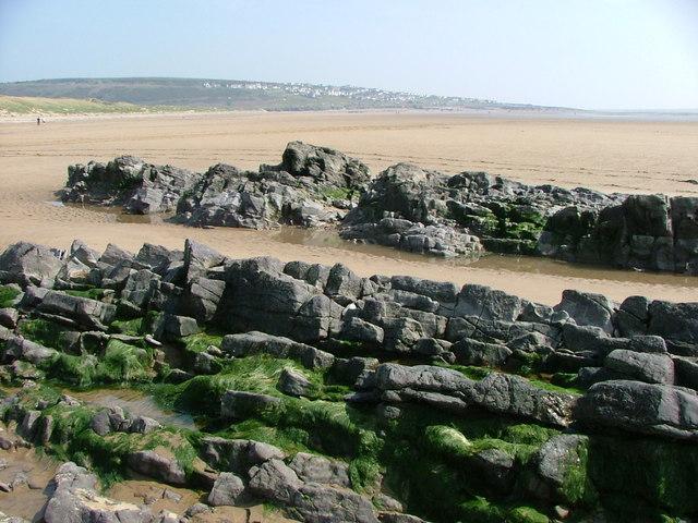Across Traeth yr  Afon towards Ogmore-by-Sea