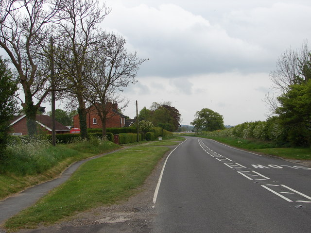 Coming out of West Ashby on the A153