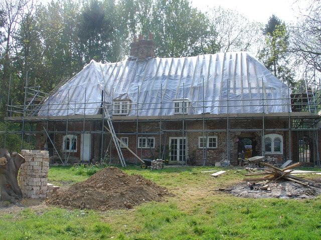 Challock Manor/Church Cottages under restoration