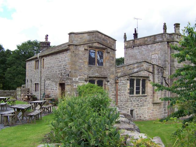 Inhabited section of Barden Tower serving food and drink
