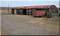 NU1830 : Farmyard, Elford by Mick Garratt