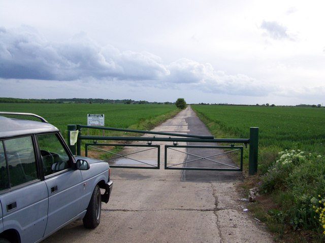 View up disused wartime runway