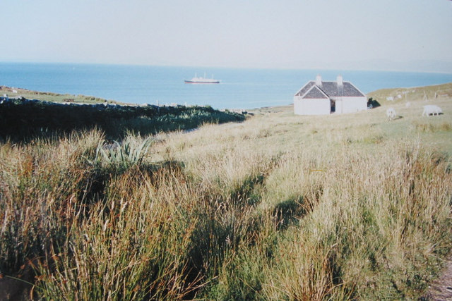 Baleromindubh holiday cottage. With Britannia