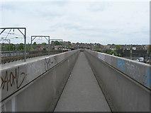 TQ2182 : Hythe Road Footbridge, Willesden Junction Station by Danny P Robinson