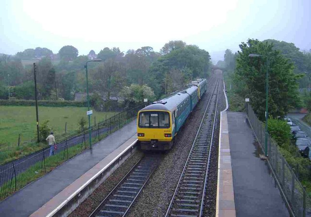 Cardiff to Bargoed train, at Pengam by Roger Cornfoot