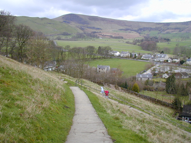 The path up to Peveril Castle