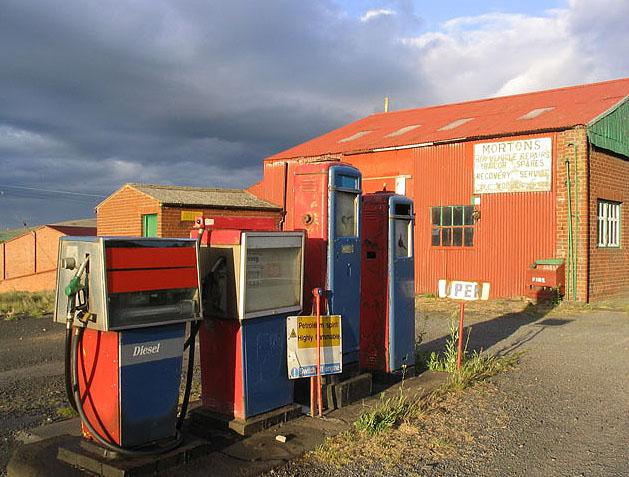 Old petrol pumps at Bendor
