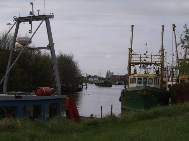 Trawlers in the Port of Boston
