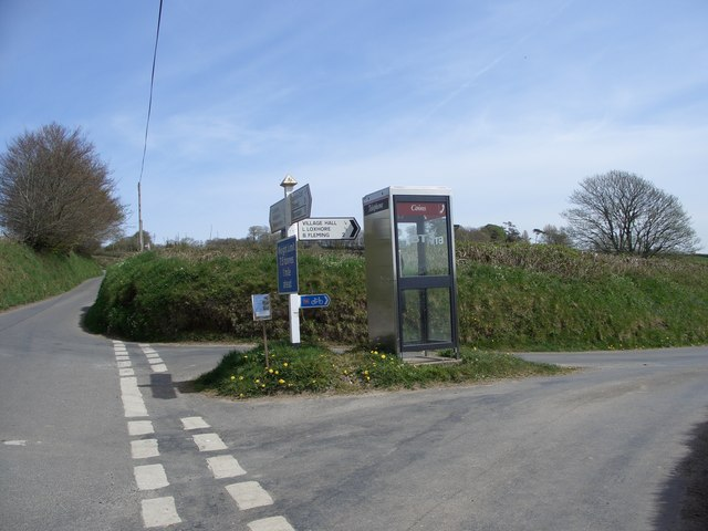 Public Telephone at Loxhore road junction