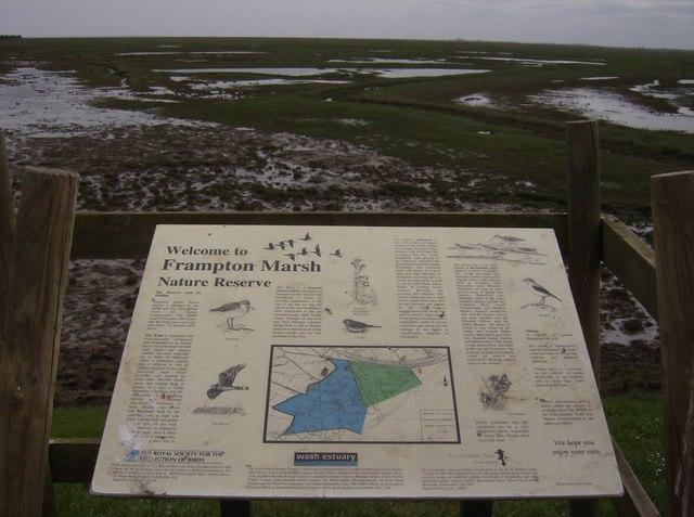 Frampton Marsh notice board