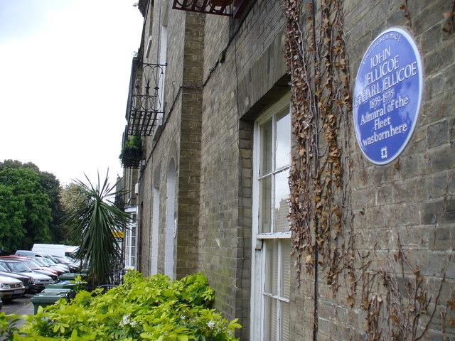 Photo of John Jellicoe blue plaque