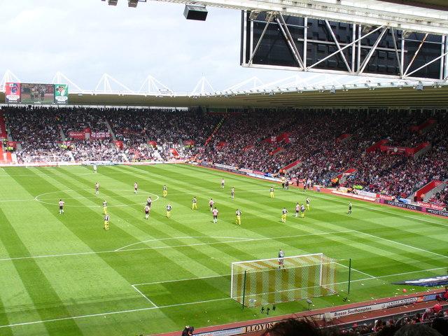 Match-day at St Mary's Stadium