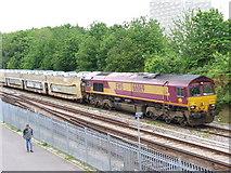 SU4212 : Car Transporter Train at Northam by Colin Smith