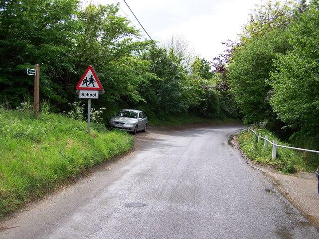 View west down Thorington Road