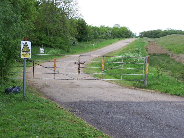Sand & Gravel Pit entrance, near Yoxford