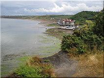 NZ8612 : Sandsend from 'former railway line' footpath by ian saunders