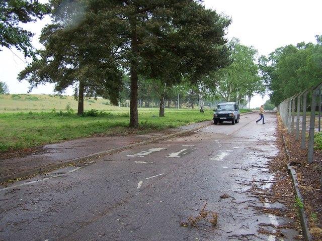 Disused zebra crossing at RAF Woodbridge