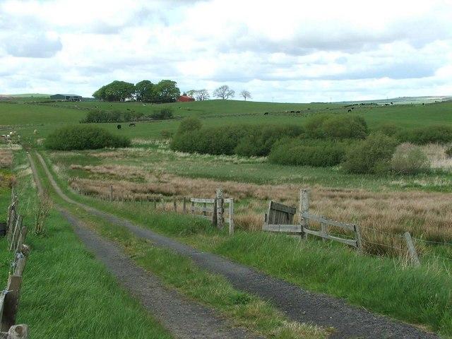 View North towards Farden Farm.
