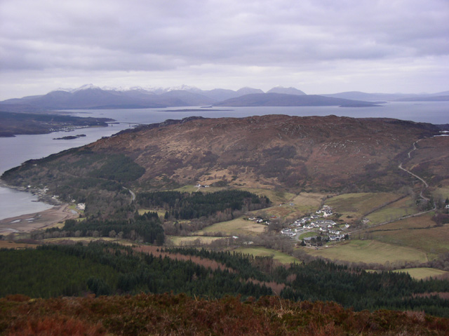 The view west from the summit of Sgurr Mor