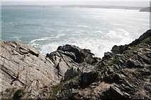 SW8063 : Newquay Bay from Towan Head by Kate Jewell