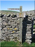 SD8167 : Footpath Sign to Feizor Nick by John S Turner