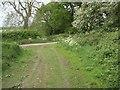 TF8428 : Junction of Broad Lane and lane from Broomsthorpe to East Rudham by Nigel Jones