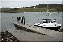 NB9811 : Slipway at Old Dornie harbour by Bob Jones