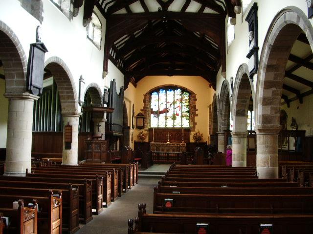 Interior of The Parish Church of St Andrew, Sedbergh
