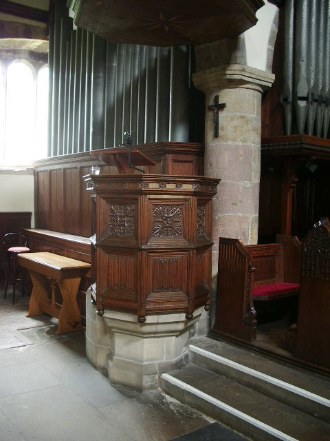 Pulpit The Parish Church of St Andrew, Sedbergh