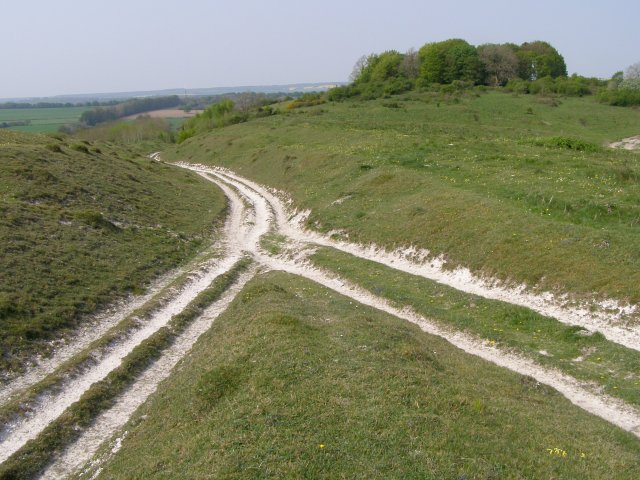 Byway meets bridleway, Buxbury Hill