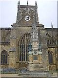 ST6316 : Memorial outside Sherborne Abbey by Graham Horn