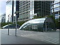 TQ3780 : Canary Wharf Station Entrances, Montgomery Square by Danny P Robinson