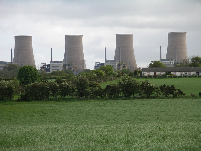 Chapelcross nuclear power station demolition 1