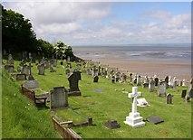 SD4161 : St Peter's churchyard, Heysham by Humphrey Bolton