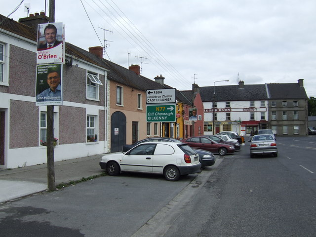 Corner of the town square, Ballyragget, Co. Kilkenny
