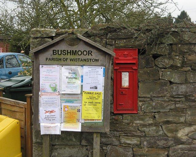 Old post box, Bushmoor