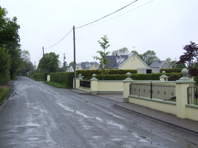 Row of detached houses at Coolaught, Co. Wexford