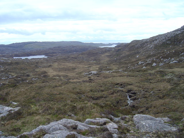 Looking towards East Harris  from the Coffin Road