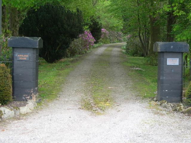 Entrance to Airieland House