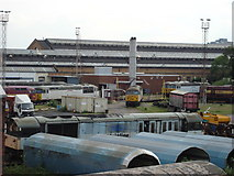 TQ2182 : Turntable at Old Oak Common by Oxyman