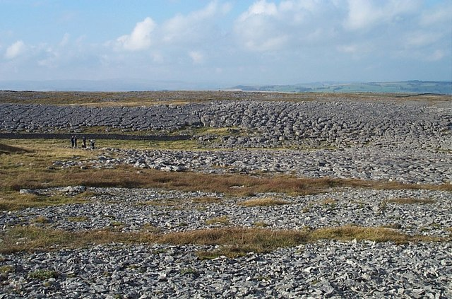 Frost-shattered limestone pavement, Asby Scar
