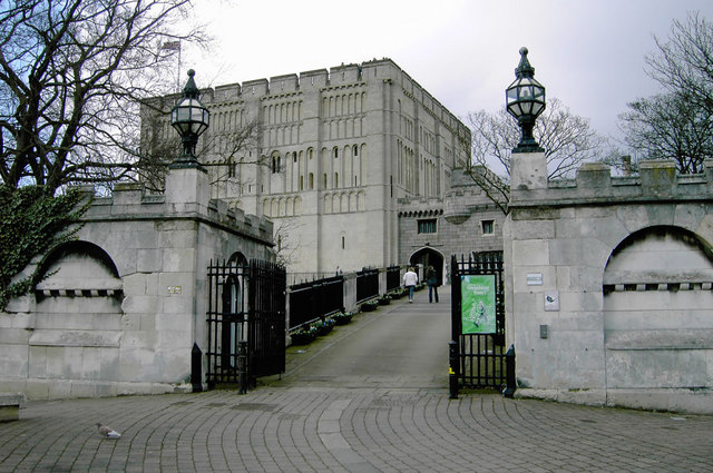 Entrance to Norwich Castle
