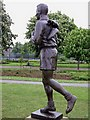 NZ4919 : Brian Clough's statue, Albert park Middlesbrough by marty bell