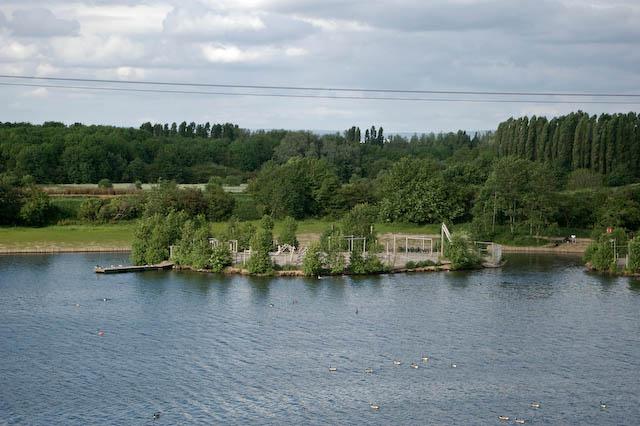 Children's adventure playground on an island in Sale Water Park